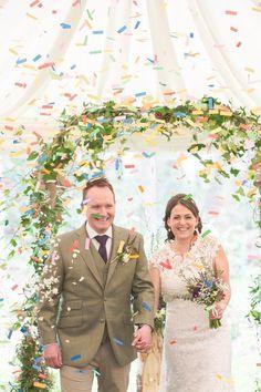 Purple & Green Rustic Woodland Glade Wedding