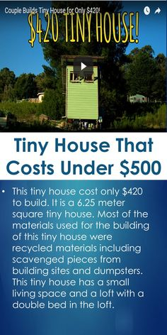 Tiny House That Costs Under $500 | Tiny Quality Homes