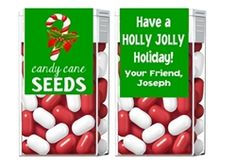 Christmas Candy Cane Seeds Tic Tac Labels. Christmas Tic Tac Labels are fun Christmas party favor ideas for adult parties or for children's parties. Elf on the Shelf candy gift present ideas.