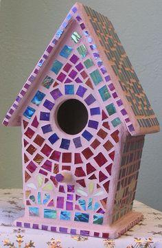 mosaic+birdhouses | Mosaic Birdhouse