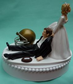 Wedding Cake Topper - University of Notre Dame Fighting Irish Football Themed***Research for possible future project.