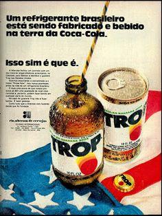 Anúncio Refrigerante Trop - 1972
