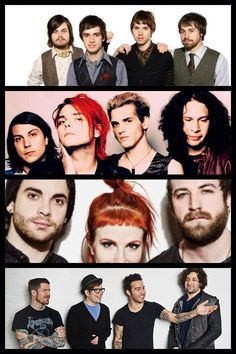 panic at the disco, my chemical romance, paramore, and fall out boy wallpaper made by me!!!