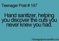 Hand sanitizer really has no other purpose, unless you don't have any cuts and you know that