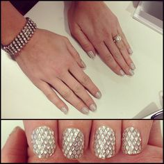 (*LOVE!*) Lift your champagne in style with this manicure (using OPI Trend Tips) #sephora #nailspotting