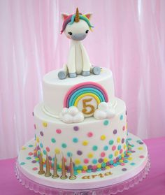 Unicorn cake. Unicorn party. Confetti cake