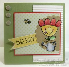 I Love this set from Paper Smooches, Perky Plants Stamp Set. I just need a few ideas...Can't wait to try this idea...It's cute!!