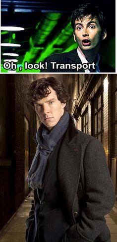 Everything else is transport  #Wholock #Sherlock #DoctorWho