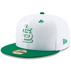 4b43b61a7ac7e Men s St. Louis Cardinals New Era White Kelly Green 2019 St. Patrick s Day  On-Field 59FIFTY Fitted Hat