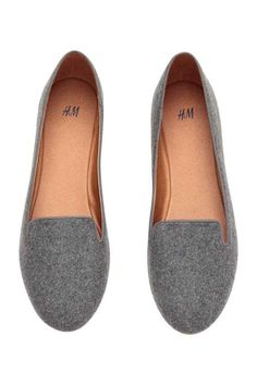 Grey loafers H&M