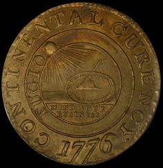 Early American Coins & Tokens   1776 Brass 'Curency' Continental  S  One Dollar MS
