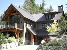 stucco with timber accents