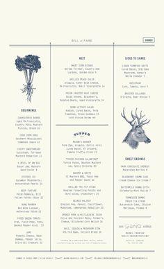 A division of UnderConsideration, cataloguing the underrated creativity of menus from around the world. Menu Restaurant, Restaurant Design, Cafe Menu Design, Restaurant Identity, Food Menu Design, Font Design, Graphic Design Branding, Typography Design, Web Design