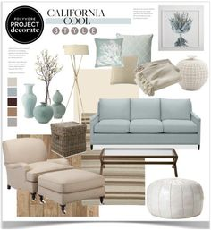Project Decorate California Cool With Flourish Design And Style By Jpetersen On Polyvore Hamptons Beach HousesHamptons Living RoomHamptons