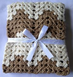 Crochet Baby Blanket  The Cameron Baby Blanket by CyprusFleurBaby, $35.00