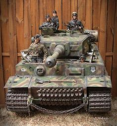 Panzer VI Tiger. Note the spare tracks in the front.