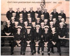 The Philladelphia experiment test crew.  The Real Philadelphia Experiment; Did a US Navy warship completely disappear in 1943?The story goes that in October of 1943, at the Philadelphia Naval Shipyard, an experiment was conducted aboard a US Navy Cannon-class destroyer escort called the USS Eldridge, number DE-173. The experiment involved the creation of a force field which rendered the ship invisible both to the eye and to radar.