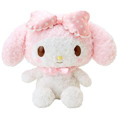 My Melody Plush Doll Rose Boa Fluffy L Large Size SANRIO JAPAN