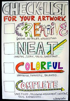 Your plain-and-simple artwork checklist