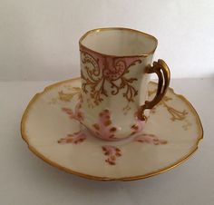 Limoges Perigault Demitasse Cup and Saucer