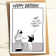 Grey Pubes Birthday - Brutally Honest Cards | Getting old | Grey Hair | Old Man | Gray Hair | Gray Pubes | by iamstevestewart on Etsy