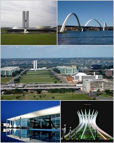Brazilia, Brazil,  The city was planned and developed in 1956 with Lúcio Costa as the principal urban planner and Oscar Niemeyer as the principal architect.