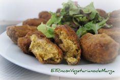 * El Rincón Vegetariano de Marga *: Croquetas de calabacín y berenjena