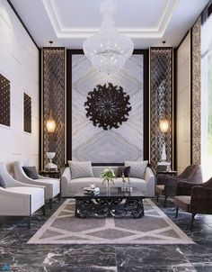 Welcome to our 2019 summer gallery of popular living room decor ideas. We are sure that this year Interior Design Living Room, Living Room Designs, Luxury Interior Design, Chandelier In Living Room, Living Room Decor, Living Rooms, Bedroom Decor, Sala Hotel, Luxury Home Decor