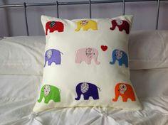 felt elephant cushion Elephant Cushion, Felt Crafts, Girls Bedroom, Elephants, Sewing Ideas, Blankets, Kids Room, Quilting, Cushions