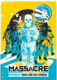 Massacre / Ringo Tour 2012 by A1 Design , via Behance