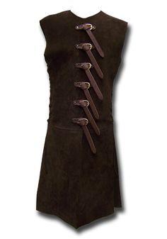 Larp Rüstung - Söldnerwams, dunkelbraun von Andracor