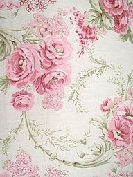 Rose Wallpaper Flower Pink And Green Pastel Fabric