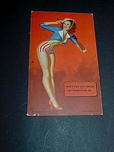 WW II Pinup Soldier Mutoscope Card,