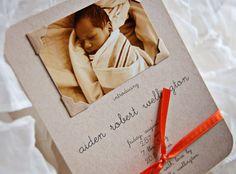 precious birth announcement for a baby boy