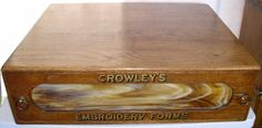 Crowley's Embroidery Thread Cabinet, Oak with Stained Glass, BRASS LANTERN ANTIQUES