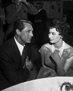 Cary Grant and the love of his life, Sophia Loren