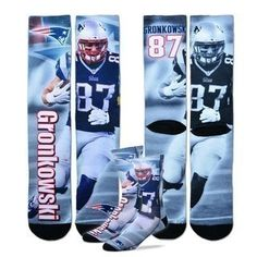 New England Patriots Youth Size NFL Drive Crew Kids Socks YRS) - Rob  Gronkowski Fits youth shoe sizes (Approx. years old) Spandex Built in  moisture ... 13c359893