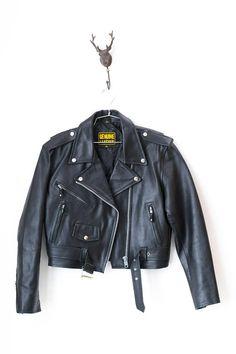 Leather Jacket Vintage Leather Motorcycle Jacket Women's