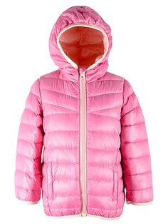 981a5fa1f3f10 Children s Warm Packable Hoodie Lightweight Windproof Downcoat Puffer Down  Coats Parka Jacket For Boys Girls Cream Pink 6-6X Label 140.