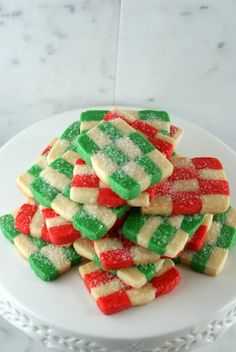 Holiday Checkerboard Cookies
