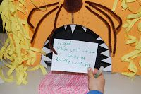 Daniel and the lion's den. Write prayers about what you are afraid of and put them in the lion's mouth. From Messy Church in the UK.