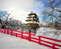 https://flic.kr/p/5T1Bu2 | Hirosaki Castle Winter © Glenn Waters (Explored).  Over 38,000 visits to this photo. | Nikon D700 + Nikkor AF-S 14-24mm f/2.8  Hirosaki Jo (弘前城) . Was also referred to as Takaoka Castle (鷹岡城 or 高岡城, Takaoka-jō).The castle was constructed in 1611. by Tsugaru clan. The castle was burnet down in 1627 and rebuilt in 1810. The present 3-storey keep is the only one in the Tohoku region.