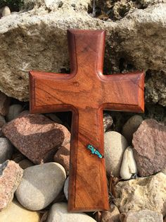 Mesquite Copper and Turquoise cross by Mesquitedecorandmore