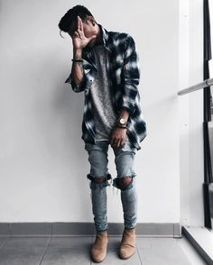 Simple and Modern Ideas: Urban Fashion Hipster Black urban wear hip hop products. Latest Mens Fashion, Urban Fashion, Style Casual, Men Casual, Guy Style, Men's Style, Style Men, Casual Winter, Casual Summer