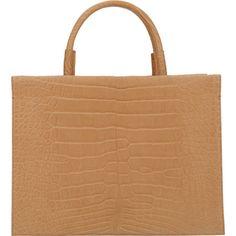 Cambiaghi Crocodile Thaila Flap Work Bag at Barneys.com