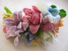 Colourful felt flowers