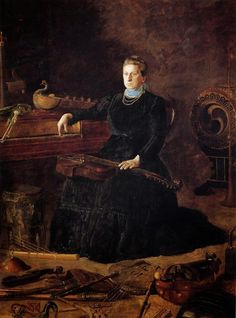 TICMUSart: Antiquated Music aka Portrait of Sarah Sagehorn Frishmuth - Thomas Eakins (1900) (I. M.)