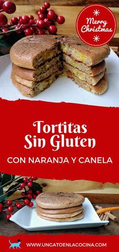 Tortitas sin gluten con naranja y canela