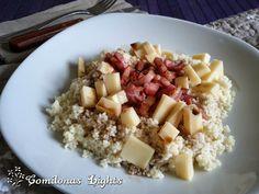 Comilonas Lights: Cous cous con bacón y queso