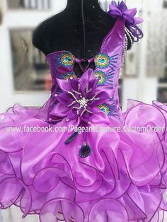 photo 2 of 4 Glitz Pageant Dress Made to Order N.19 by PageantCouture on Etsy